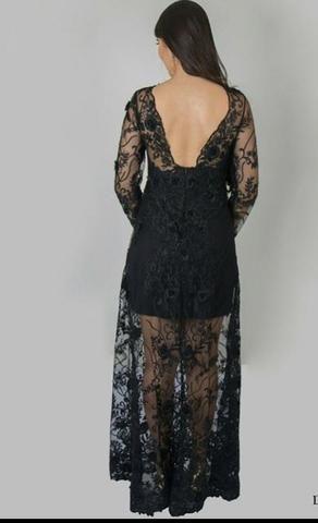 Vendo vestido longo de festa com transparência - Foto 2