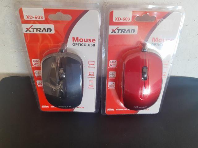 Mouse com fio USB XTRAD