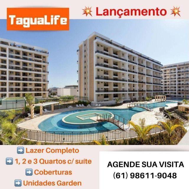 TaguáLife 46 m² 1 qto C/ Varanda Gourmet - Taxas Grátis - Tagualife - Foto 3