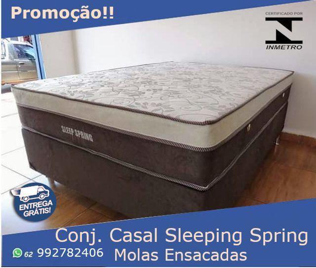 Durma Bem! Compre Já sua Cama Base + Colchão Sleeping Spring Molas