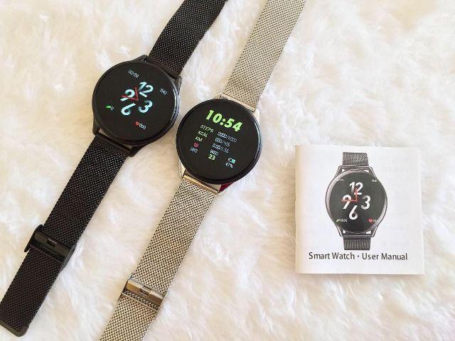 Relógio SmartWatch SN58 Tela de Vidro Temperado À Prova D'água (Android e iOS) - Foto 4