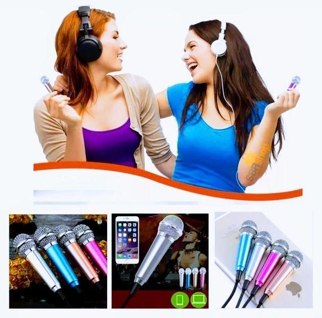 Mini Microfone P2 Para Gravação Celular Youtube Rosa Kp907 - Foto 3