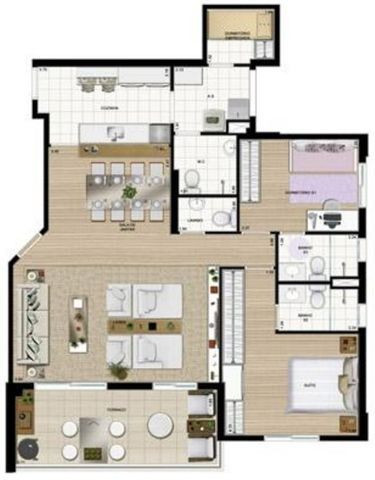 Aluga-se AP 104m² - Centro - SBC - Clube - 2vagas - Suite - 3Dorm - 4Banheiros - Foto 3