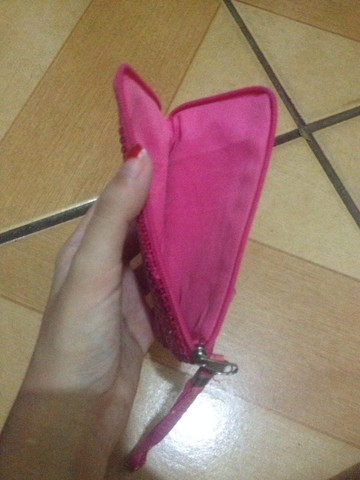 Bolsinha de moeda rosa - Foto 2