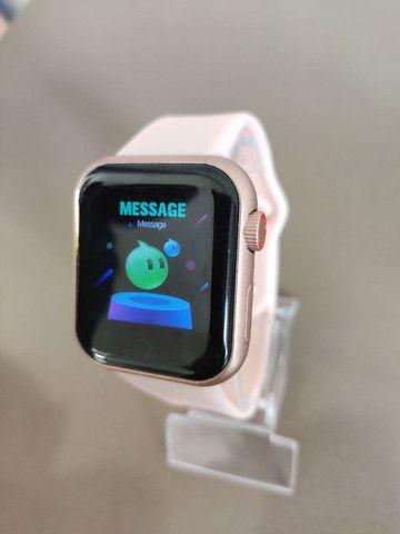 Smart watch d28, recebe notificações das redes sociais, fitness e monitor da saúde - Foto 2