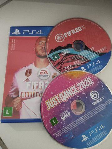 Jogos para PS4 FIFA 20 e Just dance 2020