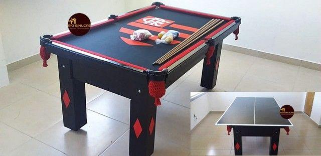 Sinuca Flamengo Multi Uso Ping Pong 2 Em 1