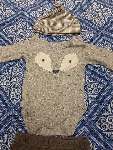 Lote Roupa Bebê Inverno Calça Manga Longa Carters CeA - Tamanho 3 a 6 meses - 6 peças - Foto 3