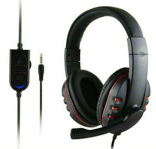 Fone Gamer Headphone Headset PS4, Xbox One, PC, Notebook, Celular