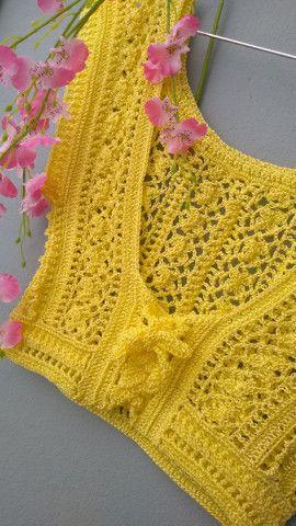 Cropped em crochê  - Foto 4