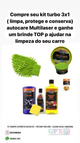 Kit básico de higienização de automotivo
