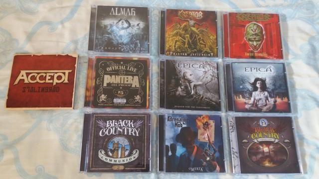 CD's Accept, Almah, Adrenaline Mob. outros CD's