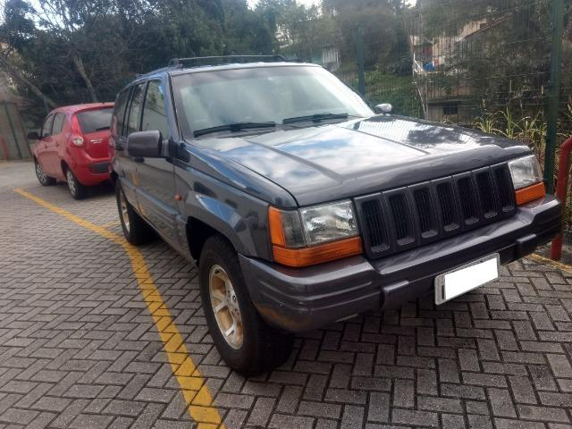 Marvelous Jeep Grand Cherokee Limited 1997   V8   Cinza   Gasolina / GNV