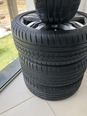 Rodas aro 18, com pneus - Foto 2
