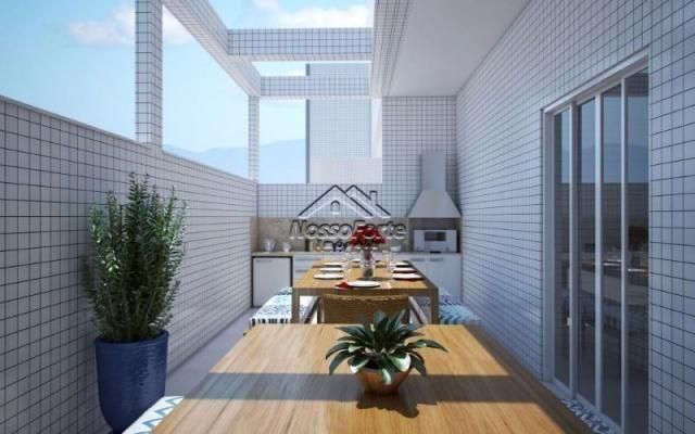 Lançamento Apartamento Vista Para o Mar no Maracanã em Praia Grande - Foto 2