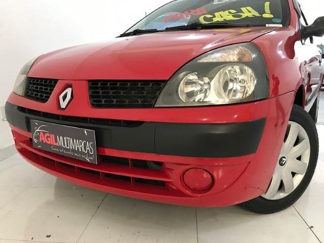 Renault Clio Authentique 1.0 Único dono 2004 Vermelho - Foto 10