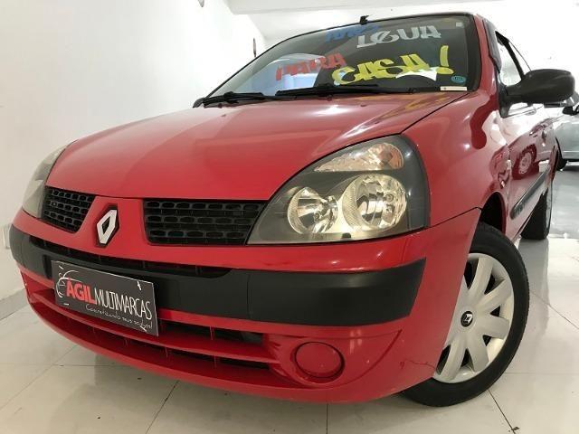 Renault Clio Authentique 1.0 Único dono 2004 Vermelho - Foto 4