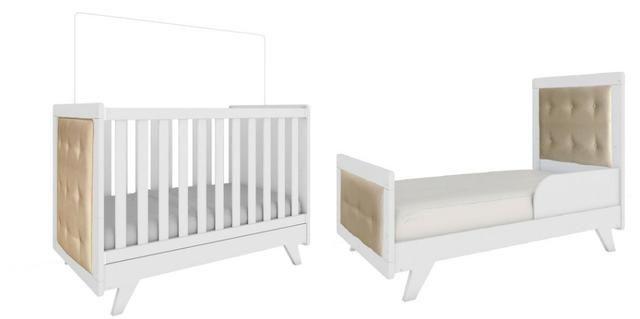 Frete Grátis* Quarto de Bebê Armário, Cômoda e Berço - Confort Retrô *NOVO - Foto 2