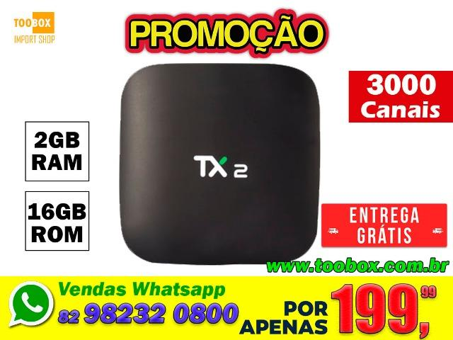 Tv Box TX2 2gb / 16gb - 64 bit Bluetooth - Super Promoção !!!