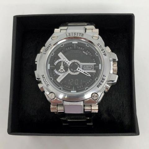 b34ed673c29 Relógio Leisite Digital e Analógico Pulseira de Aço Reforçada Caixa de Aço  Produto Novo