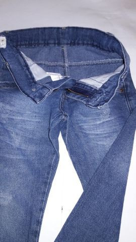 Calça Jeans Infantil Masculina Marca Mox - tam 6 semi nova excelente estado - Foto 2