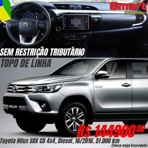 Smart Veículos - Toyota Hilux SRX CD 4x4, Diesel, 16/2016, 51.000 km. R$ 145.900,00
