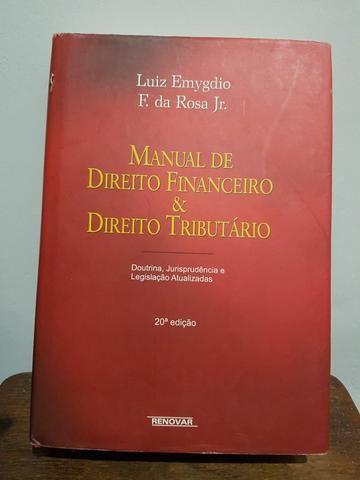 MANUAL DE DIREIRO FINANCEIRO E DIREITO TRIBUTÁRIO