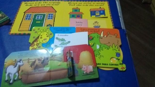 Lote com 5 livros interativos - Foto 4