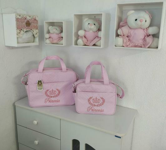 Kit Bolsa Maternidade Class Baby 2 Peças Menina - Foto 3