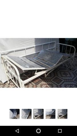 Cama hospitalar grade removível cabeceira e pés reguláveis - Foto 2