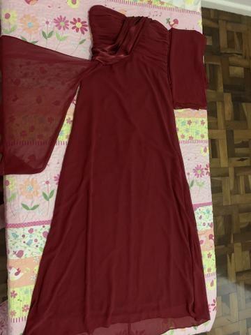 Vestido social usado uma vez tamanho 38 - Foto 2