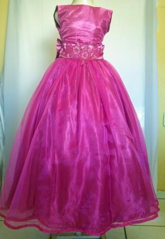 Vestidos de festa infantil rosa pink - Foto 2