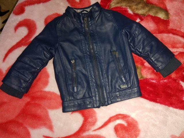 Jaqueta courino infantil azul marinho  - Foto 3