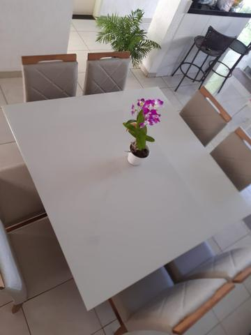 Mesa de jantar Akila oito 8 completa - Foto 3