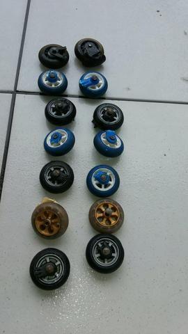 7 pares de roda de silicone - Foto 3