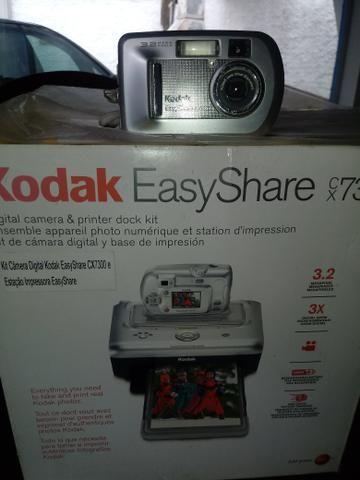 Camera digital kodak com impressora