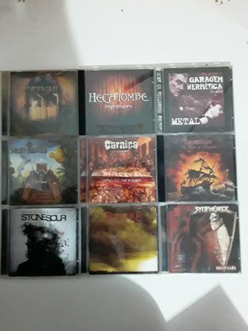 CDs Rock Metal e outros