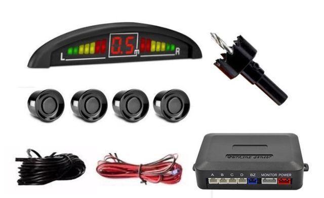Sensor de estacionamento com 4 sensores reverso radar led e sonoro - Foto 4