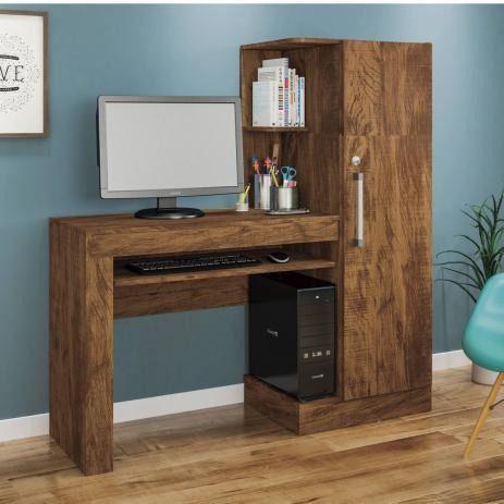 Mesa para Computador 1 Armário e Prateleira Office Valdemóveis
