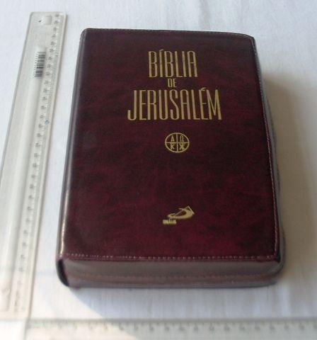 Livro Religioso - Bíblia de Jerusalém - Capa de Couro Com Zíper - 2001 - Foto 3