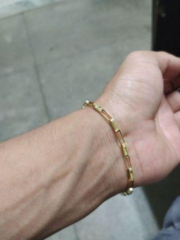 Pulseira de ouro 18 k - Foto 6