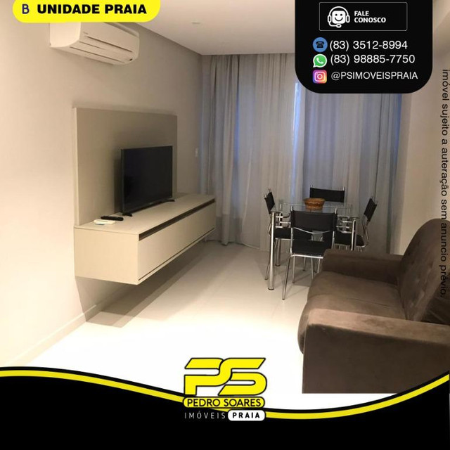 Apartamento com 2 dormitórios para alugar, 50 m² por R$ 3.000,00/mês - Tambaú - João Pesso - Foto 2