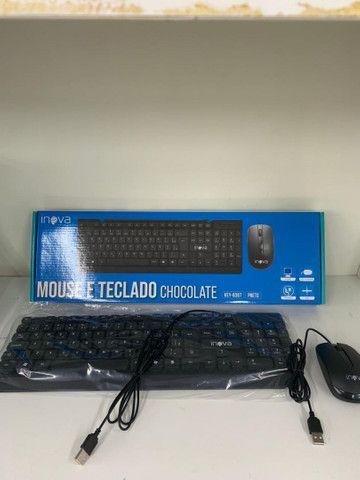 Kit De Teclado E Mouse Usb 1200dpi Pc Notebook Com Fio