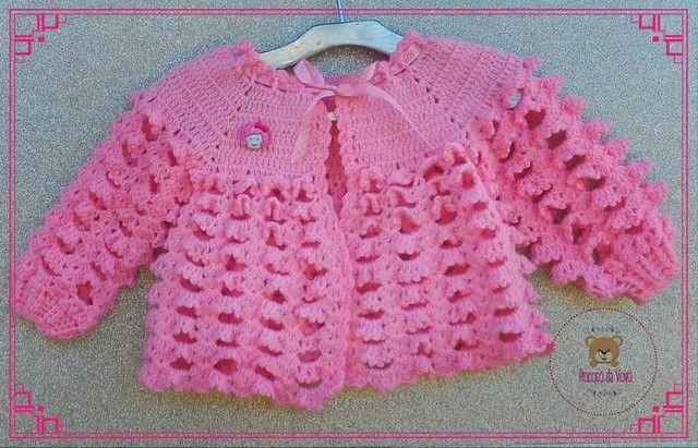 Vestidos/casaquinhos de crochê para meninas. - Foto 3