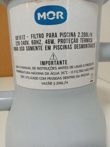 Filtro piscina Mor 2200L/H R$ 100,00 - Foto 2