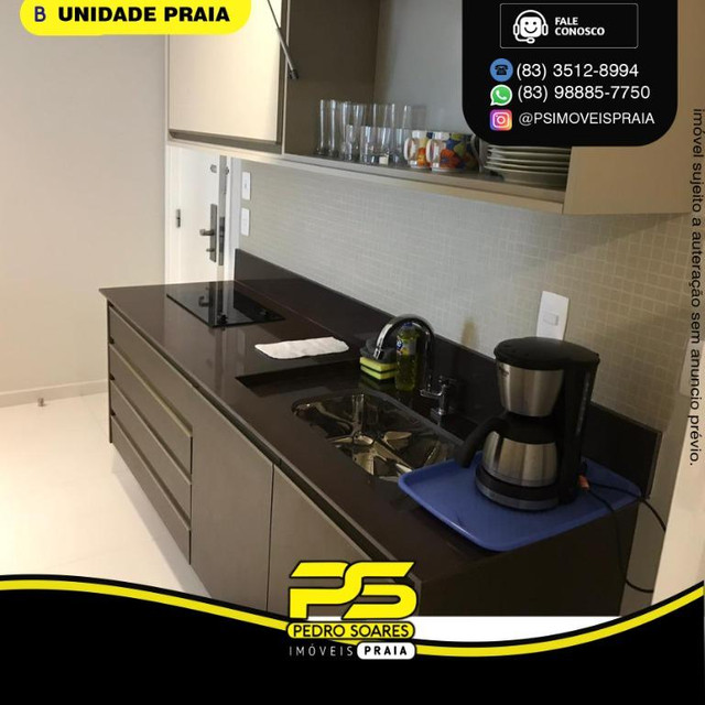 Apartamento com 2 dormitórios para alugar, 50 m² por R$ 3.000,00/mês - Tambaú - João Pesso - Foto 4