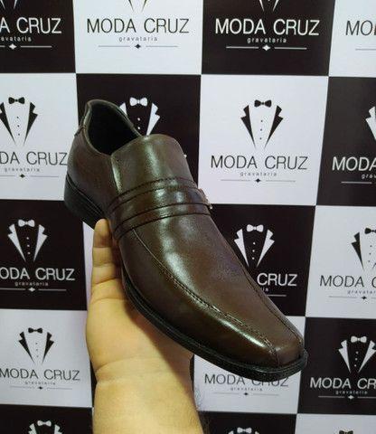 Sapatos Sociais Couro Legítimo- só na Moda Cruz - Foto 4