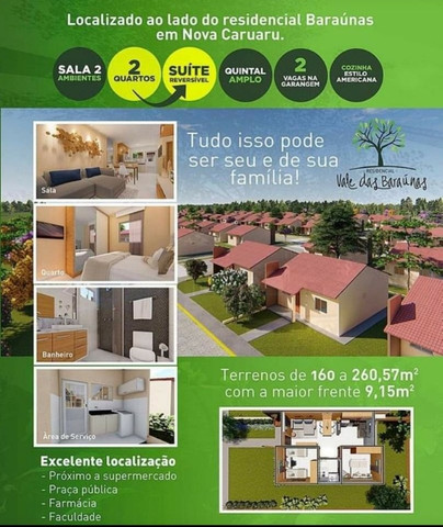 Casa no Residencial Vale das Baraúnas no Panorama Caruaru PE - Foto 2