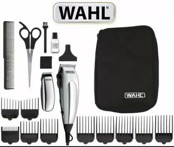 0eb963f83 Kit WAHL Máquina de Corte Cabelo e Barba Deluxe Home Pro - Beleza e ...