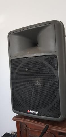 Caixa de som 2 mesa de som 1 e amplificador - Foto 3